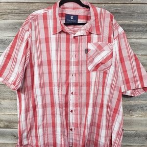Rocawear Plaid Mens Casual Button Up Shirt